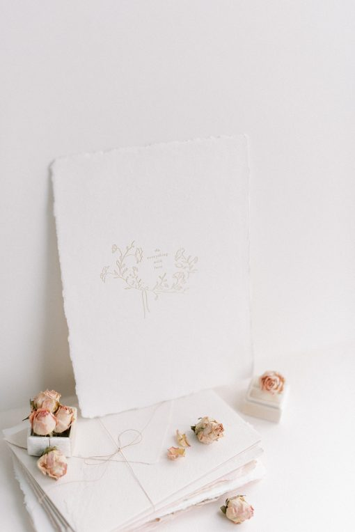 Do Everything with Love Print. Printed onto handmade paper.