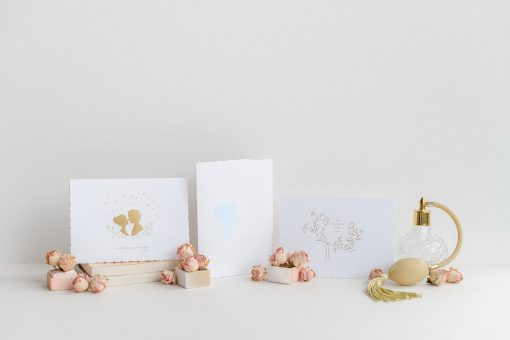 Three hand pressed cards from Tabitha Kate