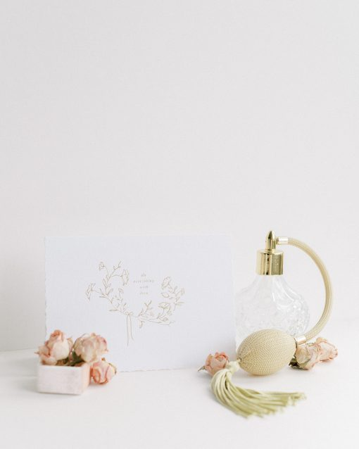 Do everything with Love Card with gold foil and a blush envelope